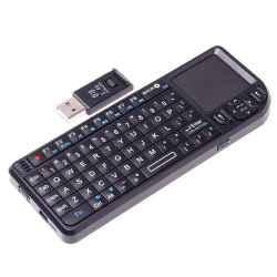 Belaidė klaviatūra su apšvietimu, integruota pele, lazeriu, USB imtuvu - nereikia baterijų!