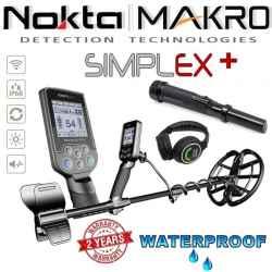 Nokta Makro Simplex+ PRO WHP su belaidėmis ausinėmis, pinpointeriu